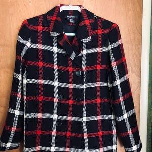 Etcetera jacket red/black/white size 12